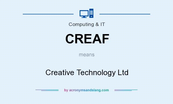 What does CREAF mean? It stands for Creative Technology Ltd