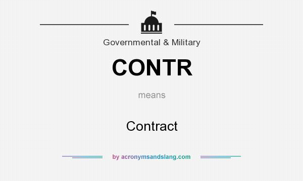 What does CONTR mean? It stands for Contract