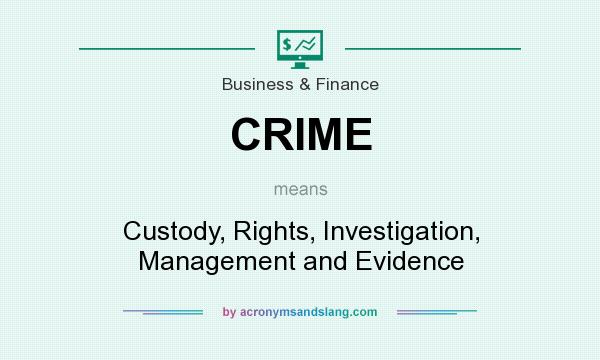What does CRIME mean? It stands for Custody, Rights, Investigation, Management and Evidence