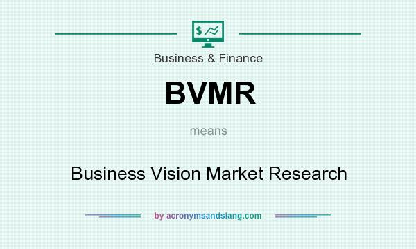 What does BVMR mean? It stands for Business Vision Market Research
