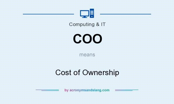 What does COO mean? It stands for Cost of Ownership