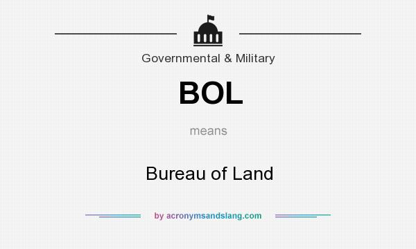 What does BOL mean? It stands for Bureau of Land