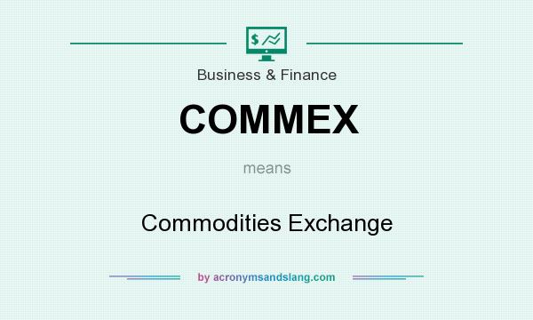 What does COMMEX mean? It stands for Commodities Exchange
