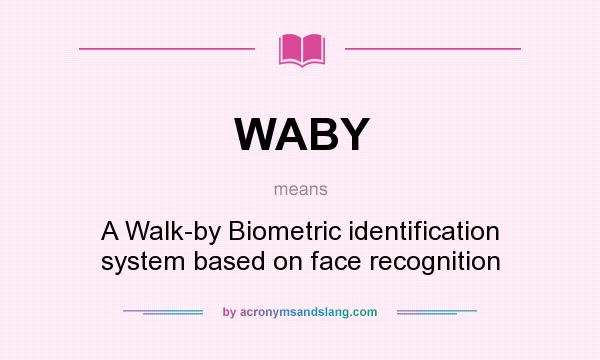 What does WABY mean? It stands for A Walk-by Biometric identification system based on face recognition