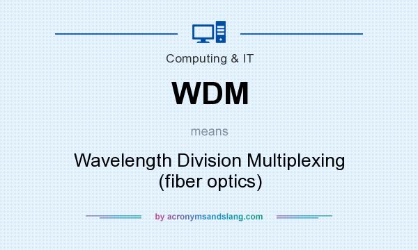 What does WDM mean? It stands for Wavelength Division Multiplexing (fiber optics)