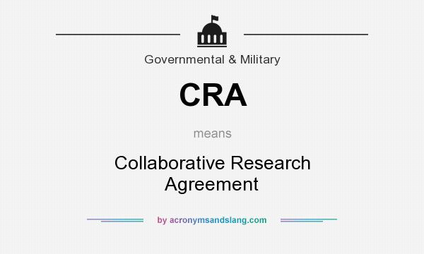 Cra collaborative research agreement in government for Cra research