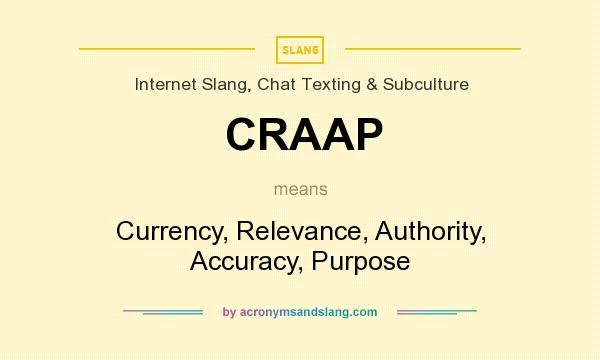 craap meaning