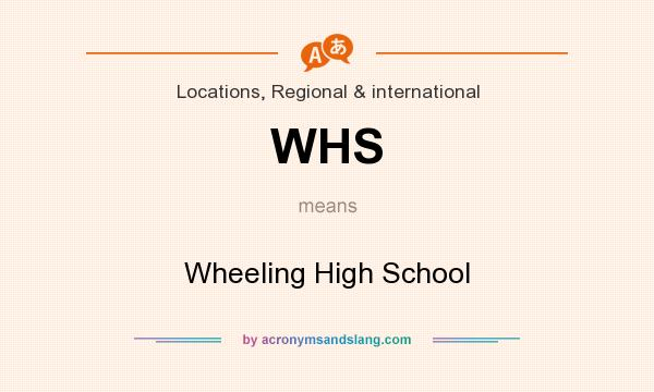 What does WHS mean? It stands for Wheeling High School