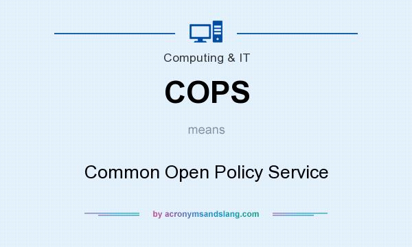 What does COPS mean? It stands for Common Open Policy Service