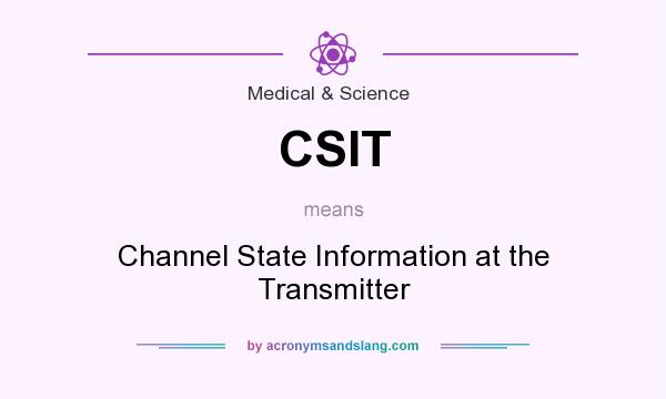 What does CSIT mean? It stands for Channel State Information at the Transmitter