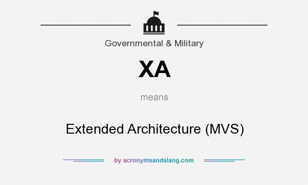 What does XA mean? It stands for Extended Architecture (MVS)