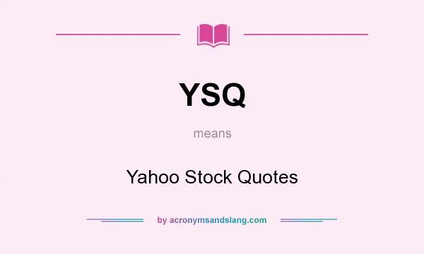 Yahoo stock quotes