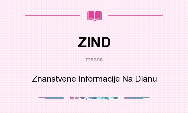 What does ZIND mean? It stands for Znanstvene Informacije Na Dlanu