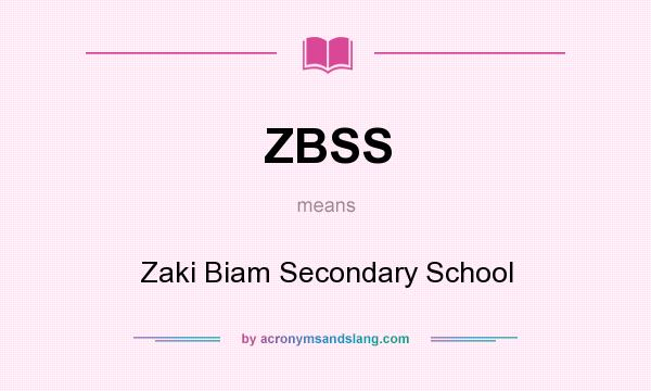 What does ZBSS mean? It stands for Zaki Biam Secondary School