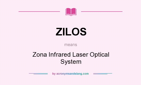 What does ZILOS mean? It stands for Zona Infrared Laser Optical System