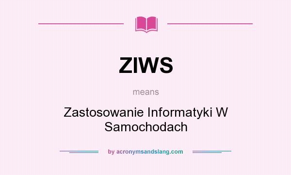 What does ZIWS mean? It stands for Zastosowanie Informatyki W Samochodach