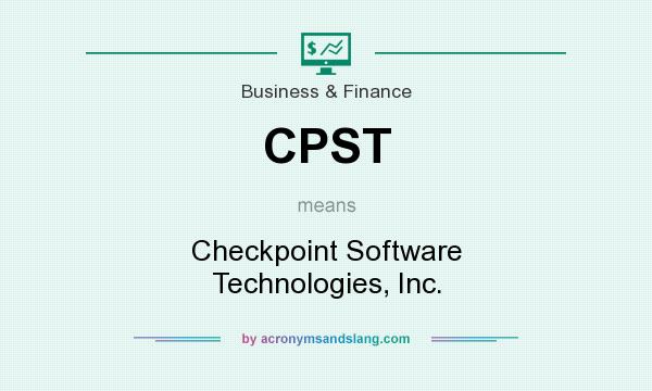 What does CPST mean? It stands for Checkpoint Software Technologies, Inc.