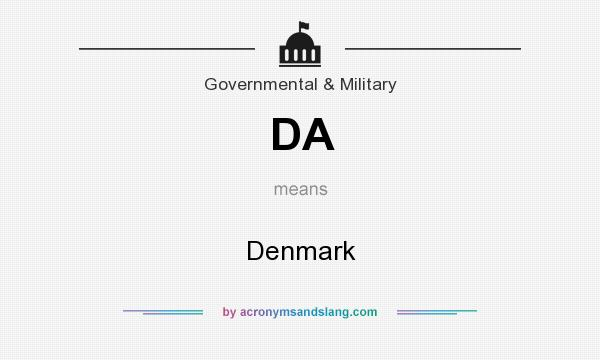 What does DA mean? It stands for Denmark
