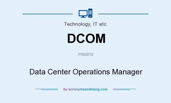 What does DCOM mean? It stands for Data Center Operations Manager