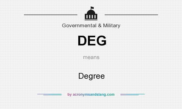 What does DEG mean? It stands for Degree