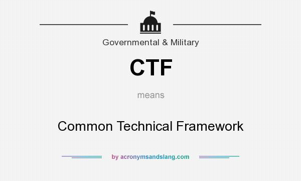 What does CTF mean? It stands for Common Technical Framework