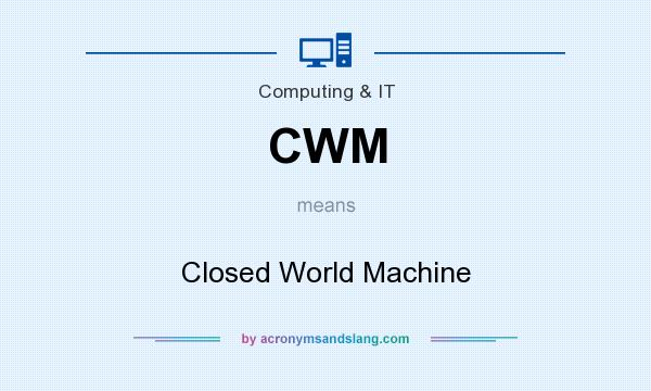 What does CWM mean? It stands for Closed World Machine