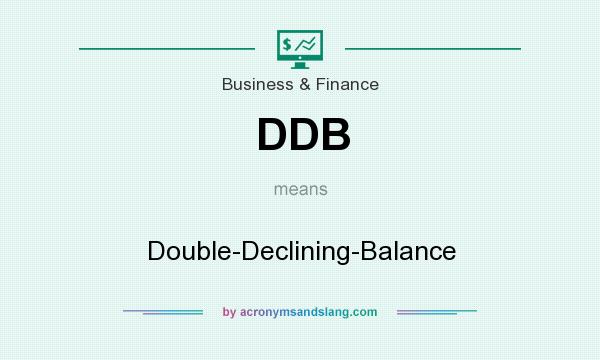 What does DDB mean? It stands for Double-Declining-Balance