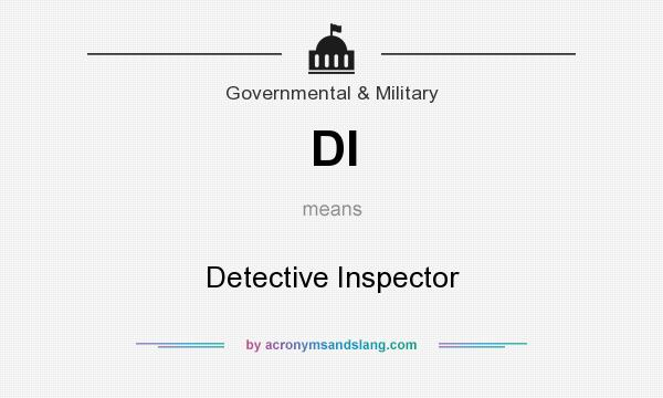 What does DI mean? It stands for Detective Inspector
