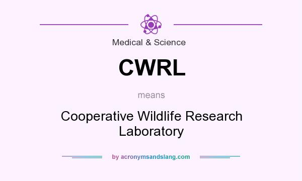 What does CWRL mean? It stands for Cooperative Wildlife Research Laboratory