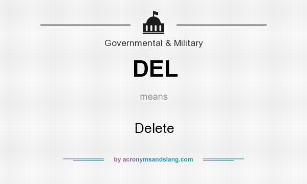What does DEL mean? It stands for Delete