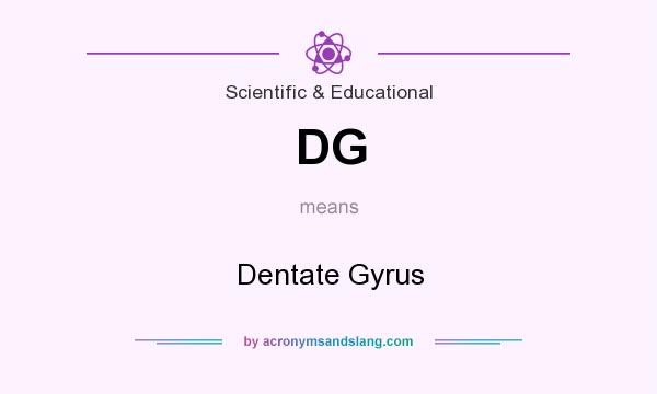 What does DG mean? It stands for Dentate Gyrus