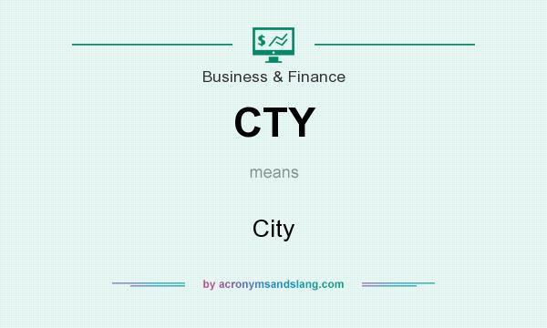 What does CTY mean? It stands for City