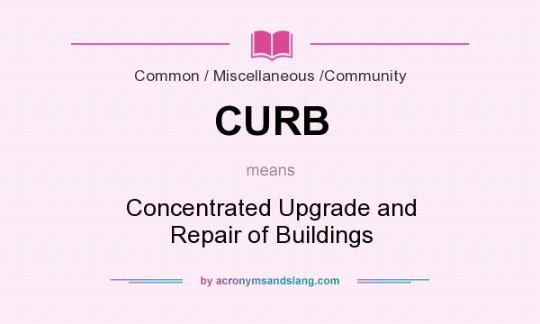 What does CURB mean? It stands for Concentrated Upgrade and Repair of Buildings