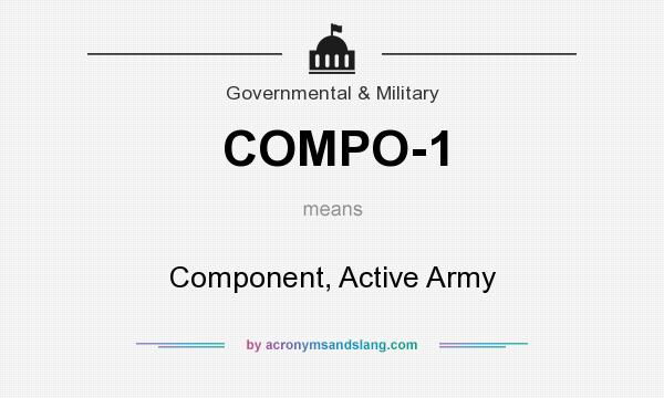 What does COMPO-1 mean? It stands for Component, Active Army