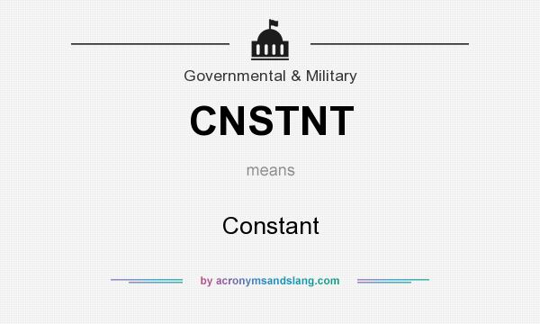 What does CNSTNT mean? It stands for Constant