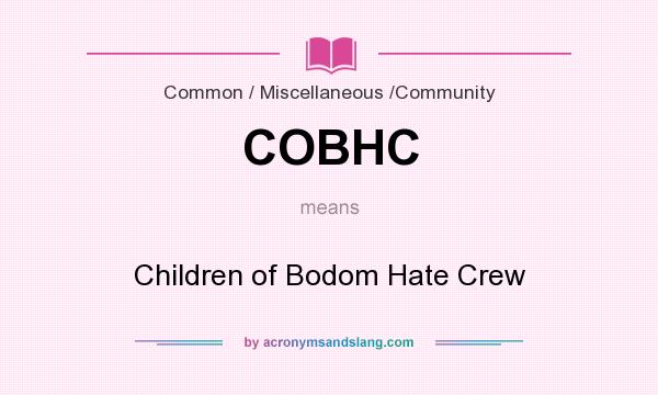 What does COBHC mean? It stands for Children of Bodom Hate Crew