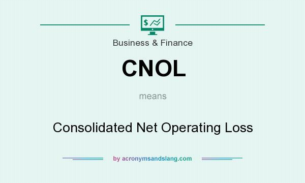 What does CNOL mean? It stands for Consolidated Net Operating Loss