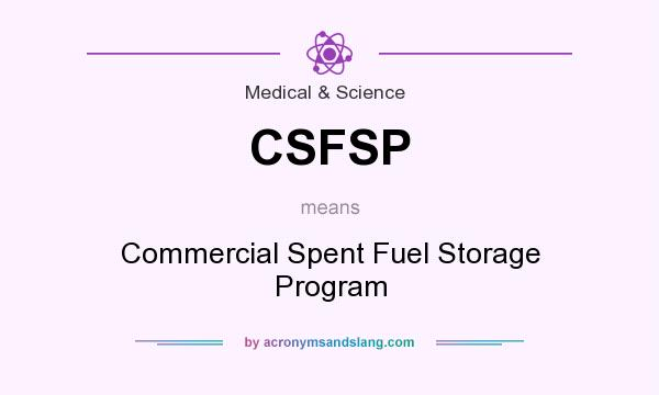 What does CSFSP mean? It stands for Commercial Spent Fuel Storage Program