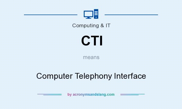 What does CTI mean? It stands for Computer Telephony Interface