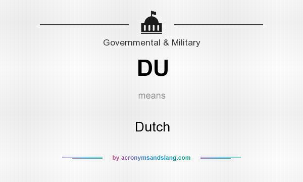 What does DU mean? It stands for Dutch