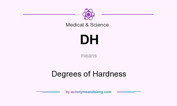 What does DH mean? It stands for Degrees of Hardness