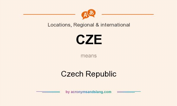 What does CZE mean? It stands for Czech Republic