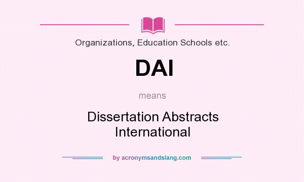 dissertation abstracts internationaleducation Dissertation abstracts international database - quality term paper writing assistance education dissertation abstracts in a dissertation.