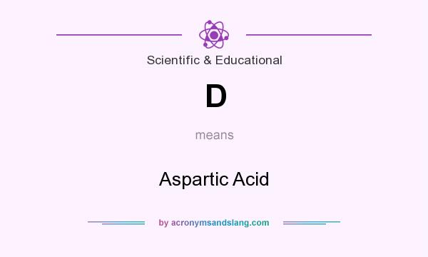What does D mean? It stands for Aspartic Acid