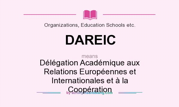 What does DAREIC mean? It stands for Délégation Académique aux Relations Européennes et Internationales et à la Coopération