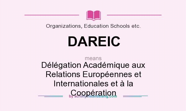 What does DAREIC mean? It stands for Délégation Académique aux Relations Européennes et Internationales et à la Coopération