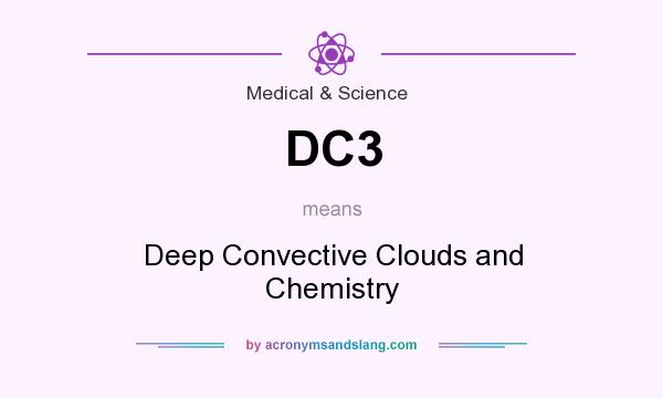 What does DC3 mean? It stands for Deep Convective Clouds and Chemistry