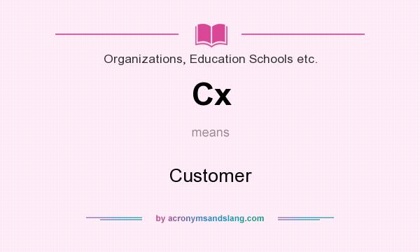 What does Cx mean? It stands for Customer