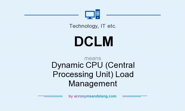 What does DCLM mean? It stands for Dynamic CPU (Central Processing Unit) Load Management