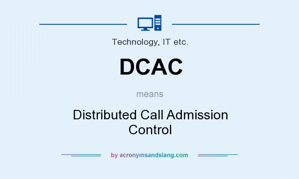 What does DCAC mean? It stands for Distributed Call Admission Control